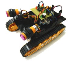 Tracked Arduino Obstacle Avoider Robot
