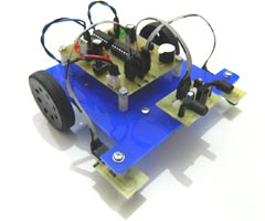 Robot Moving Between Lines and Detecting Obstacles