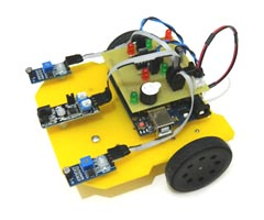 Mini Arduino Obstacle Avoiding Light Follower Robot