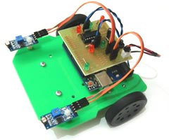 Mini Arduino Light Follower Robot